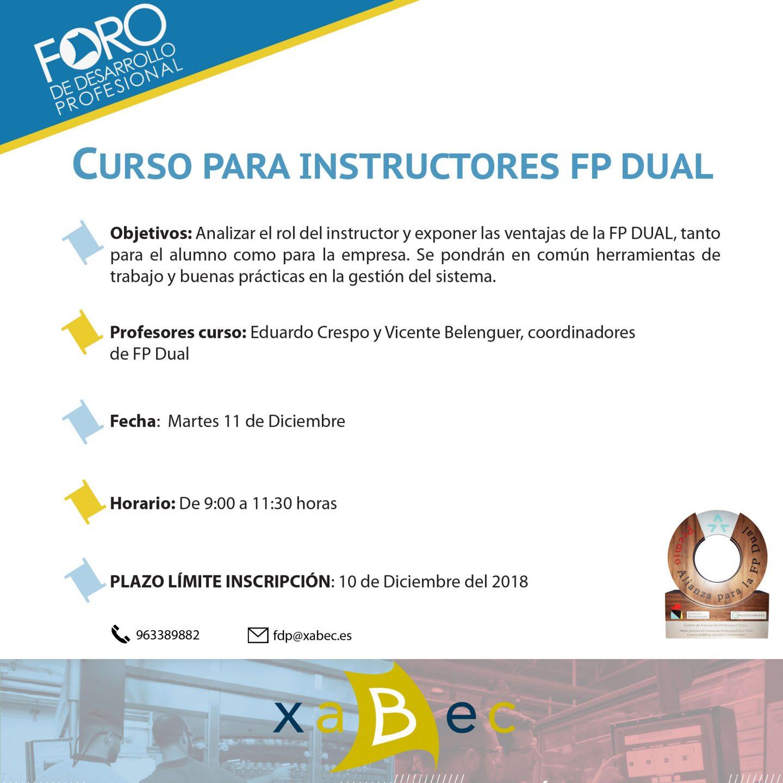 Xabec organiza una nueva edición del Curso para instructores de FP DUAL