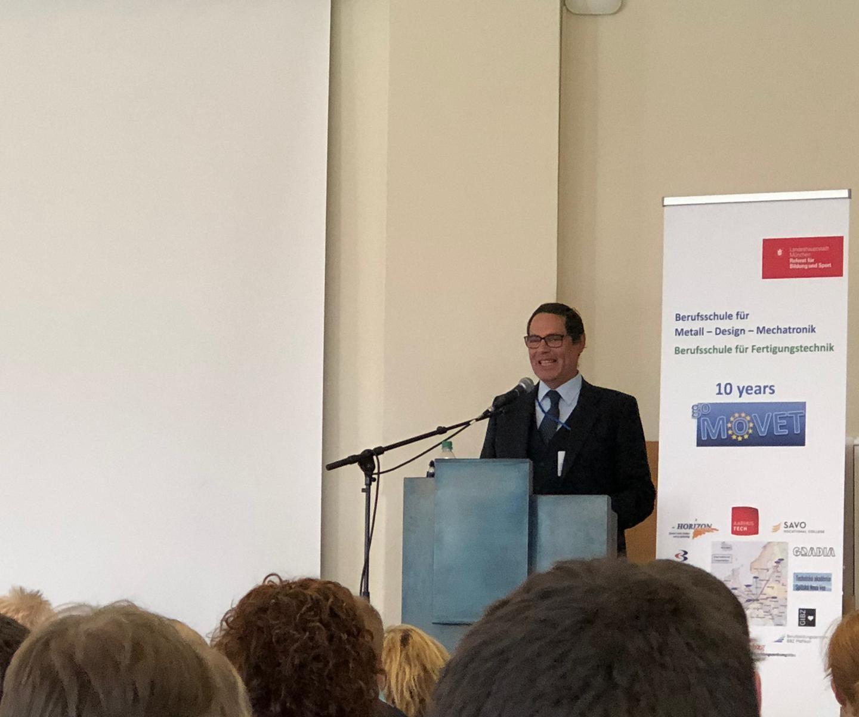 Xabec participa en la celebración del X Aniversario de los programas internacionales de la escuela alemana Berufschule für Fertigunstechnik