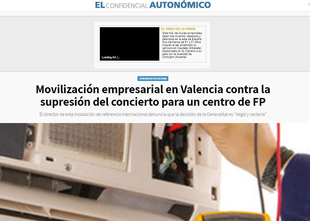 Movilización empresarial en Valencia contra la suspensión de los conciertos educativos